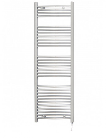 Marco 1500 x 500 Curved Chrome Electric Towel Rail