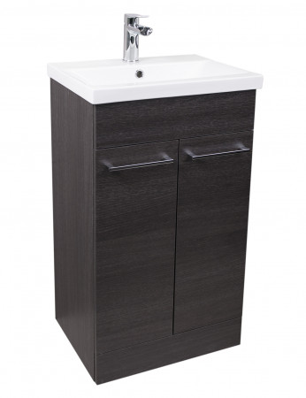 Napoli Black Oak 2 Door 500 Unit & Basin