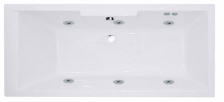Legend Right Hand 6 Jet Chrome Flat Jet Whirlpool Bath 1600x700mm