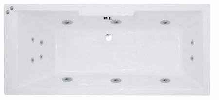 Legend Right Hand 12 Jet Chrome V-Tec Whirlpool Bath 1700x700mm