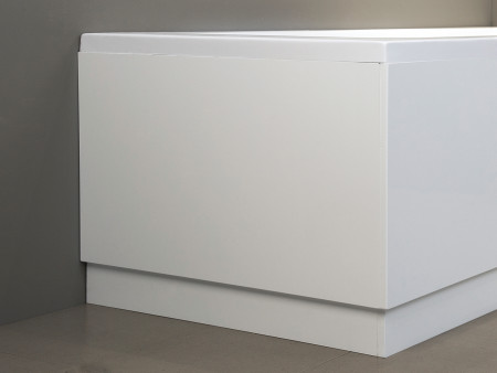 800mm High Gloss White Bath End Panel