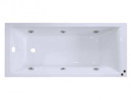 Summit End Tap 6 Jet Chrome V-Tec Whirlpool Bath 1700x750