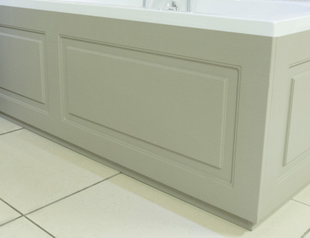 Windsor Traditional Grey 1800 Front Bath Panel & Plinth