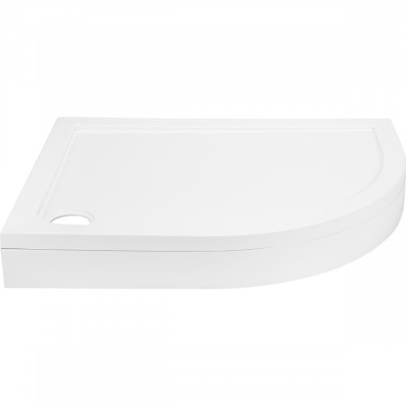 40mm Pearlstone 1200 x 900 Right Hand Offset Quadrant Shower Tray & Plinth