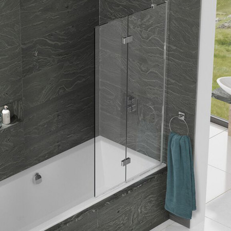 Kudos Inspire Two Panel Infold Shower Screen Right Hand