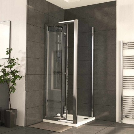 Series 6 760mm x 900mm Bi Fold Door Shower Enclosure