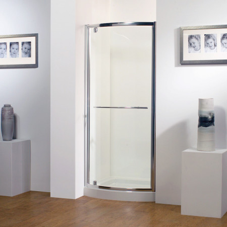 Kudos Original Bowed Pivot Door 900mm Silver