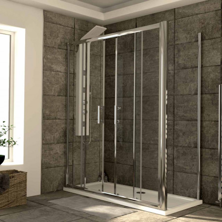 Series 6 1600mm x 700mm Double Sliding Door Shower Enclosure