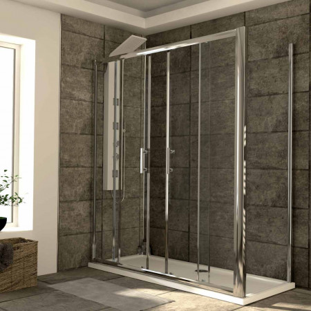 Series 6 1700mm x 700mm Double Sliding Door Shower Enclosure