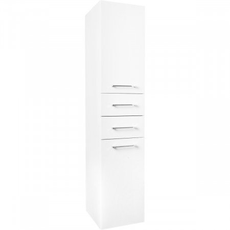 Napoli Gloss White 2 Drawer & 2 Door Tall Unit