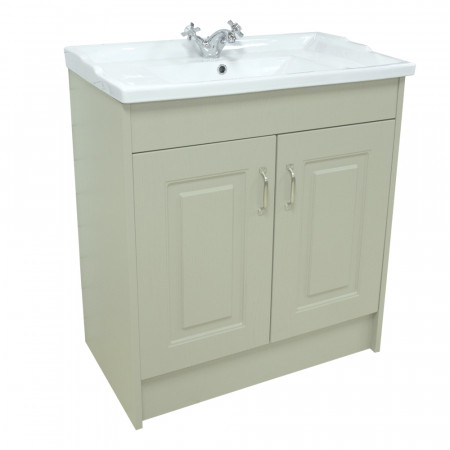 Windsor Traditional Grey 800 2 Door Unit & Basin