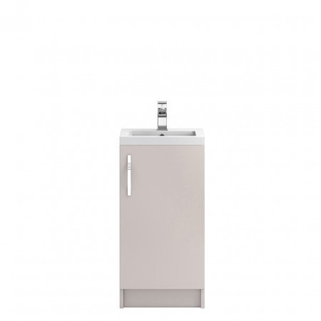 Hudson Reed Apollo Cashmere Floor Standing 400mm Cabinet & Basin - FMA722 & PMB311