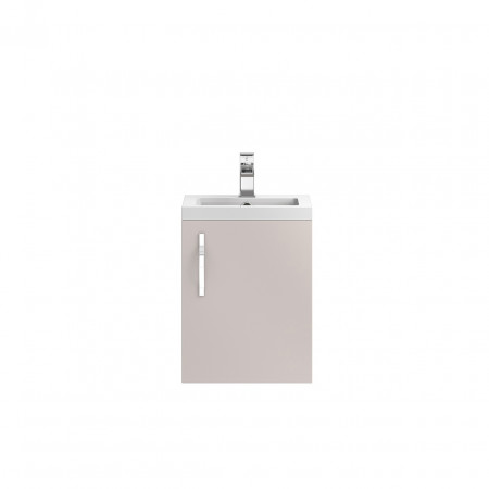 Hudson Reed Apollo Cashmere Wall Hung 400mm Cabinet & Basin - FMA732 & PMB311