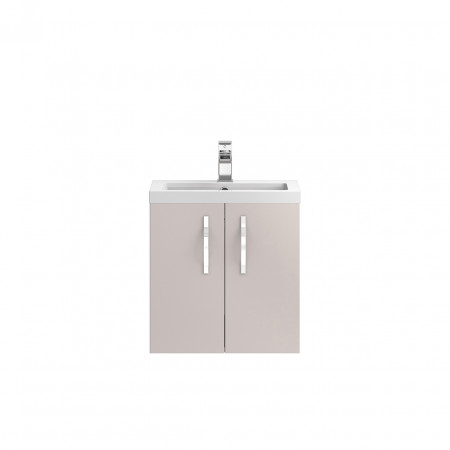 Hudson Reed Apollo Cashmere Wall Hung 500mm Cabinet & Basin - FMA734 & PMB312
