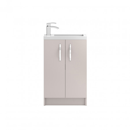 Hudson Reed Apollo Compact Cashmere Floor Standing 500mm Cabinet & Basin - FMA724C & PMB302
