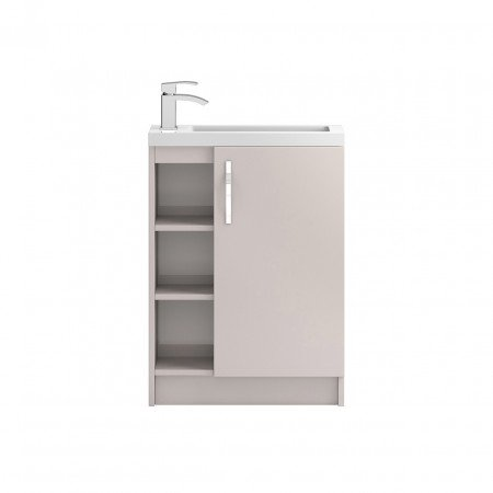 Hudson Reed Apollo Compact Cashmere Floor Standing 600mm Cabinet & Basin - FMA776C & PMB303