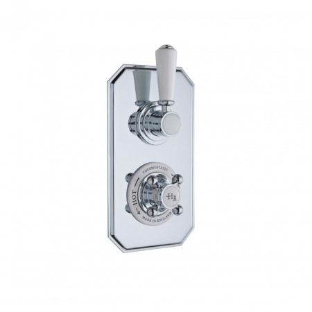 Hudson Reed Chrome Topaz Thermostatic Twin Concealed Valve - TSVT002