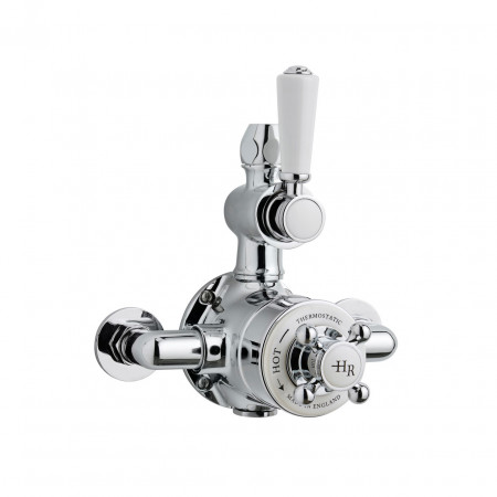 Hudson Reed Chrome Topaz Thermostatic Twin Exposed Valve - TSVT101