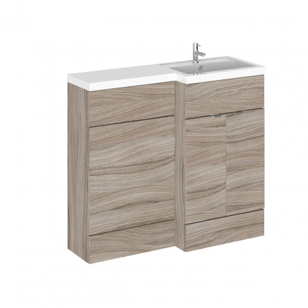 Hudson Reed Driftwood 1000mm Full Depth Combination Vanity & WC Unit with Right Hand Basin - CBI227