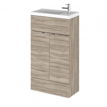 Hudson Reed Driftwood 500mm Compact Vanity Unit with Basin - CBI222