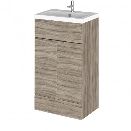 Hudson Reed Driftwood 500mm Full Depth Vanity Unit with Basin - CBI224
