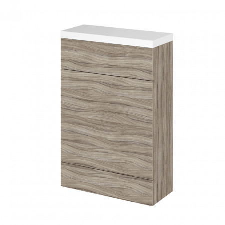 Hudson Reed Driftwood 600mm Compact WC Unit with Polymarble Top - CBI219