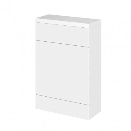 Hudson Reed Gloss White 600mm Compact WC Unit with Polymarble Top - CBI119
