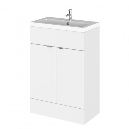 Hudson Reed Gloss White 600mm Full Depth Vanity Unit with Basin - CBI107