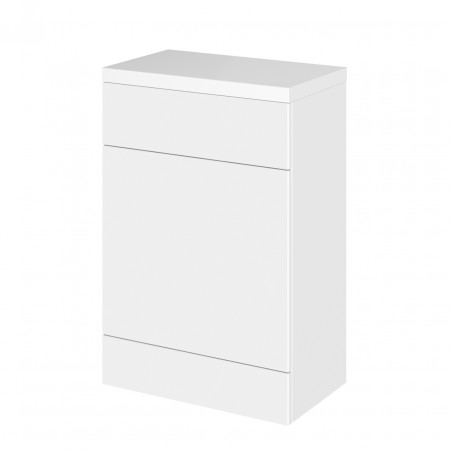 Hudson Reed Gloss White 600mm Full Depth WC Unit with Polymarble Top - CBI120