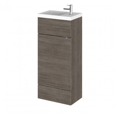 Hudson Reed Grey Avola 400mm Compact Vanity Unit with Basin - CBI521
