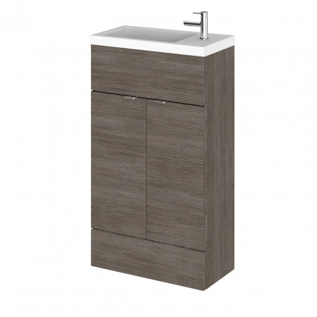 Hudson Reed Grey Avola 500mm Compact Vanity Unit with Basin - CBI522