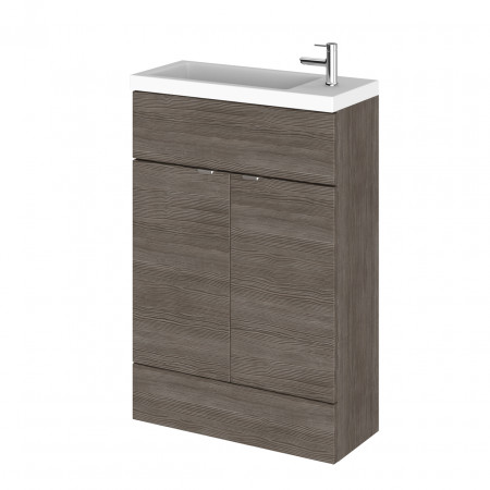 Hudson Reed Grey Avola 600mm Compact Vanity Unit with Basin - CBI506