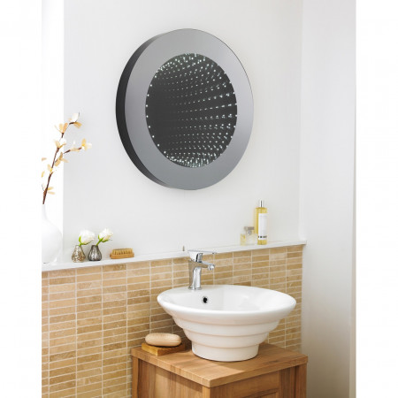 Hudson Reed Round 600mm Infinity Mirror - LQ064