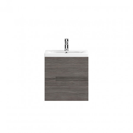 Hudson Reed Urban Grey Avola Wall Hung 500mm Cabinet & 18mm profile Basin - FMU514 & FCM002