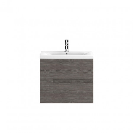 Hudson Reed Urban Grey Avola Wall Hung 600mm Cabinet & 40mm profile Basin - FMU516 & NVM013