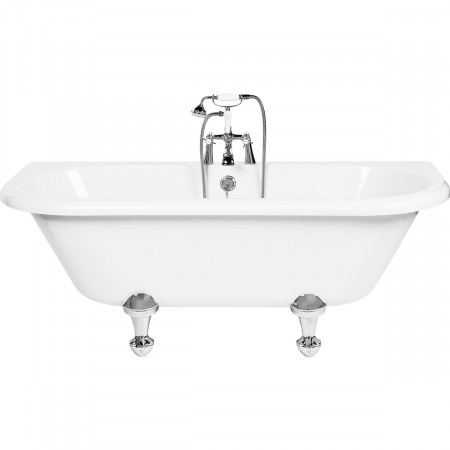 Kathryn Freestanding Bath Back To Wall with Traditional Feet