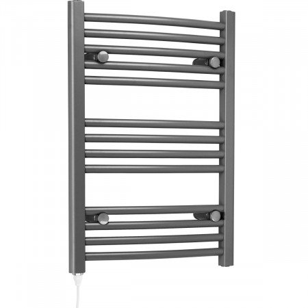 Marco 700 x 500 Curved Grey Electric Towel Rail