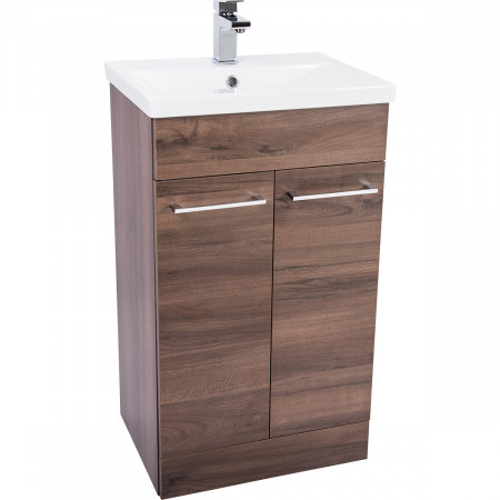 Napoli Walnut 2 Door 500 Unit & Basin