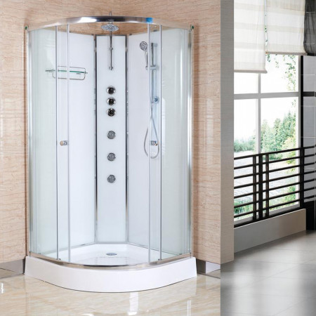 Opus 02 900mm iLock Quadrant Shower Cabin Polar White