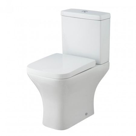 Premier Carmela White Semi Flush to Wall Pan & Cistern - NCG100 & NCG101