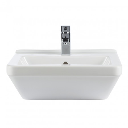 Premier White Pearl 550mm Square Semi Recessed Basin - VIDPWH151