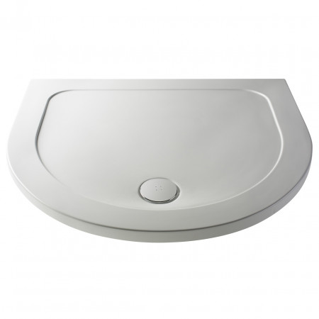 Premiere Pearlstone 1050mm x 950mm x 40mm D Shape Shower Tray - NTP095