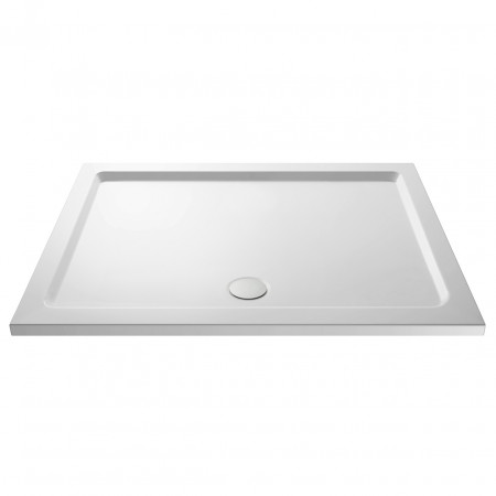 Premiere Pearlstone 1600mm x 800mm x 40mm Rectangular Shower Tray with Centre Waste - NTP053