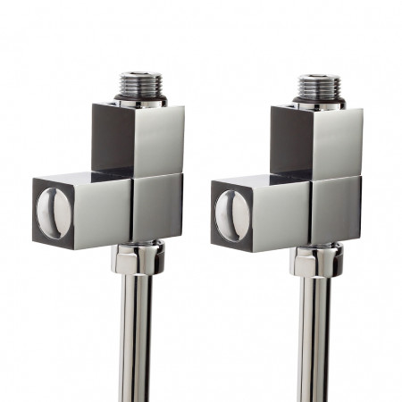 Deluxe Square Straight Radiator Valves