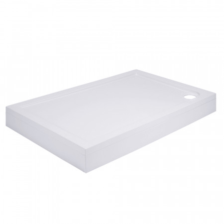40mm Pearlstone 1100 x 900 Rectangular Shower Tray & Plinth