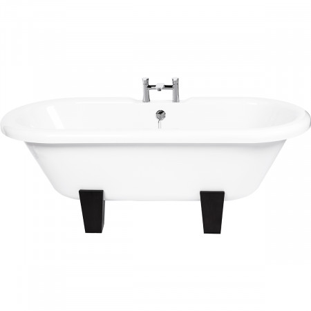 Sophie Freestanding Double Ended Bath with Wenge Feet