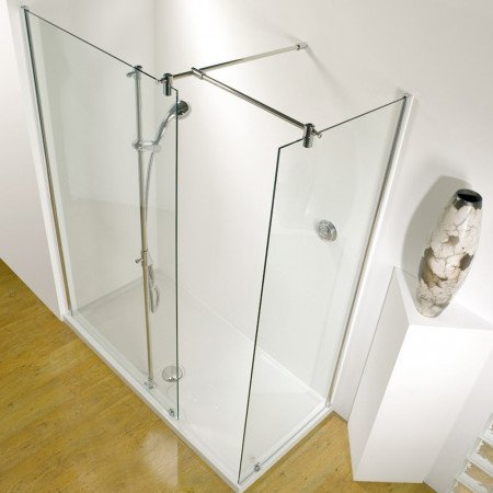 Kudos Ultimate 1 Flat Panel 1500 Corner Walk In Right Hand with Shower Tower