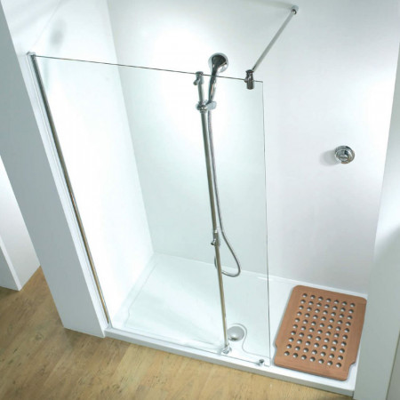 Kudos Ultimate 1 Flat Panel 1700 Recess Walk In Right Hand with Shower Tower