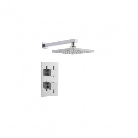 Ultra Chrome Twin Shower Bundle Option 1 - PBS009