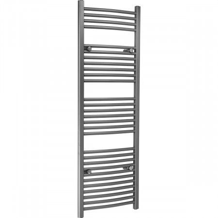 Marco 1500 x 500 Curved Grey Heated Towel Rail
